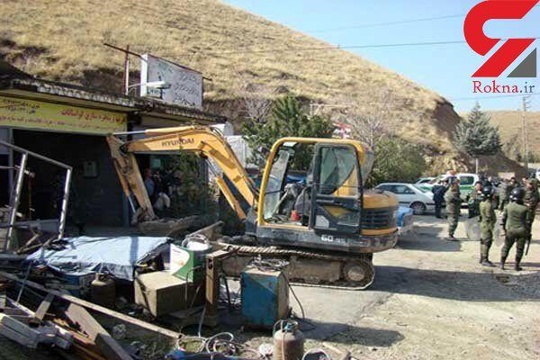 تخریب ساخت و سازهای غیرمجاز در شمیرانات با حکم قضایی