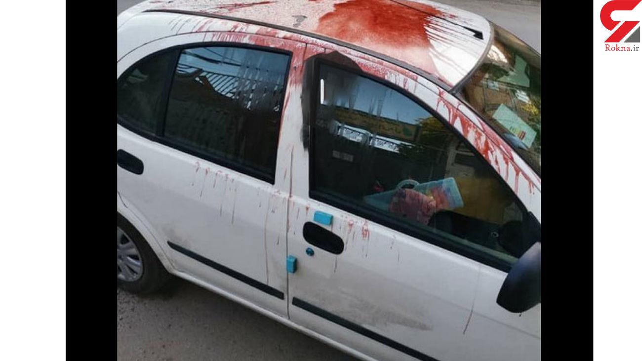 اسید پاشی در محوطه بیمارستان بهشتی همدان + فیلم و عکس