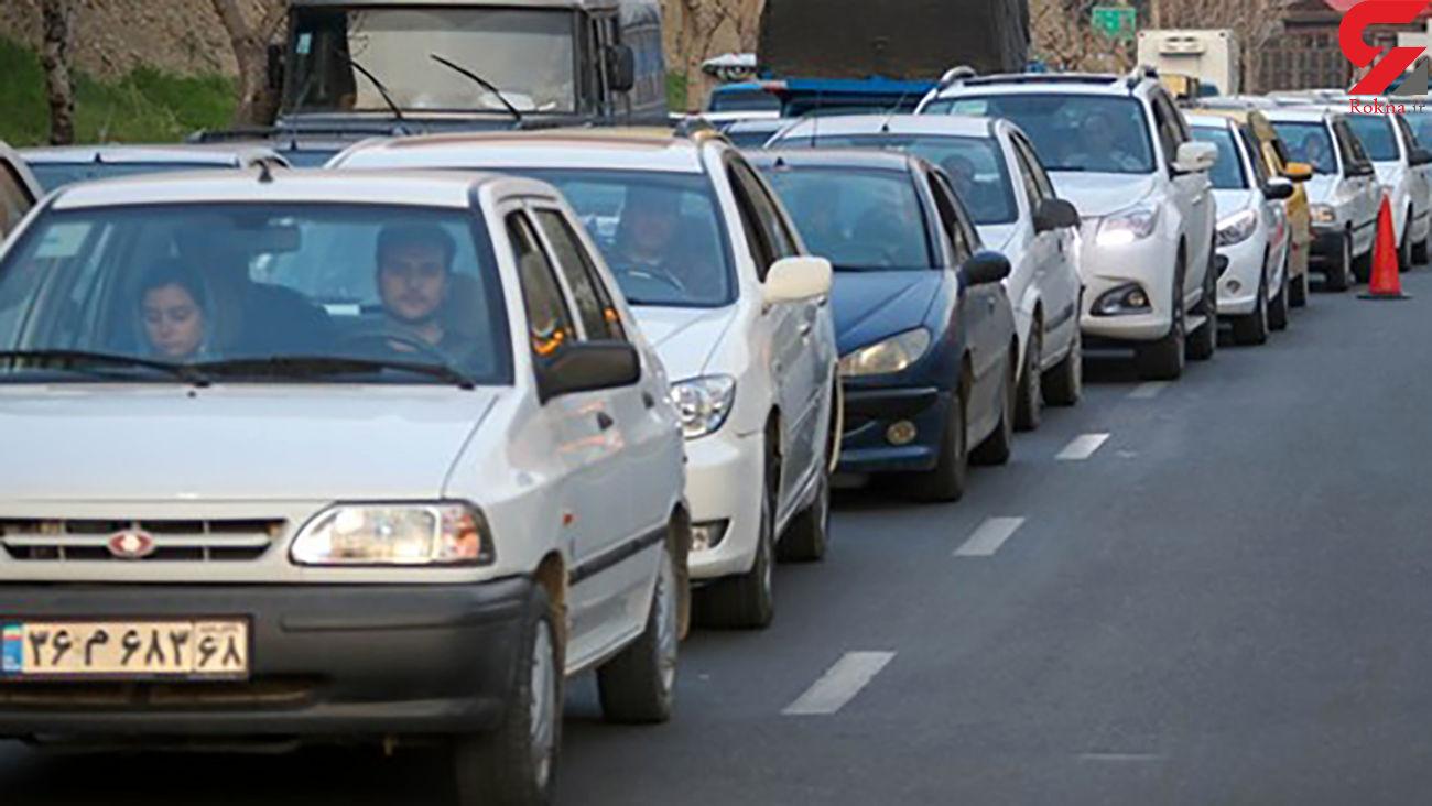 ترافیک سنگین در چالوس و آزادراه قزوین ـ کرج