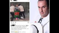 پشت پرده فیلم درگیری ماموران شهرداری تهران با یک دستفروش + عکس