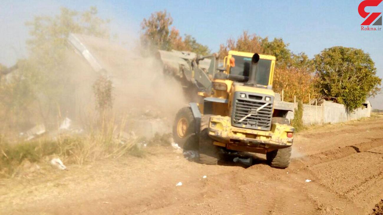 اجرای ۶ مورد احکام قضایی قلع و قمع در اراضی کشاورزی شهرستان قزوین