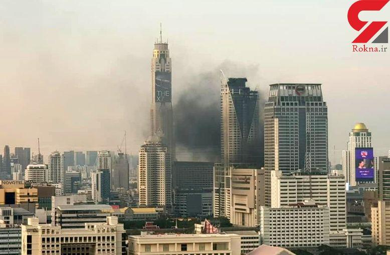 آتشسوزی مهیب در پایتخت تایلند/ شماری کشته شدند + تصاویر