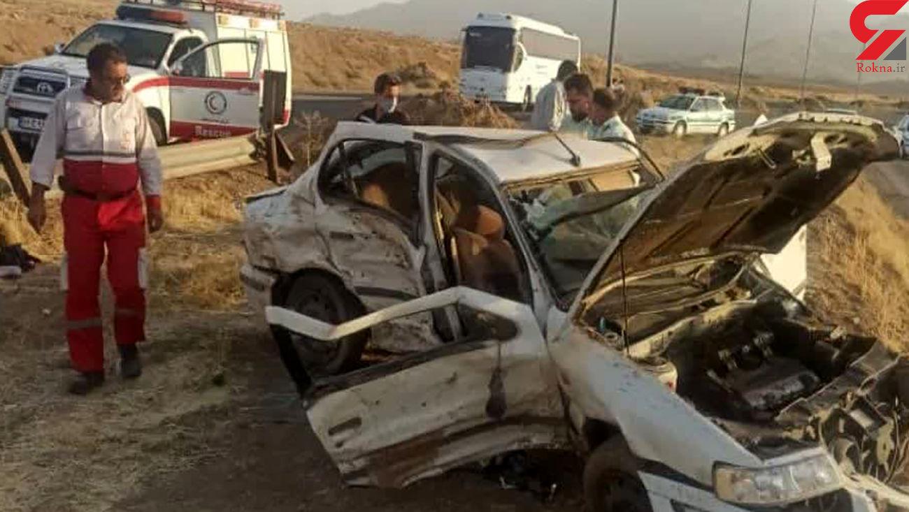4 کشته و مجروح در تصادف قم - اراک
