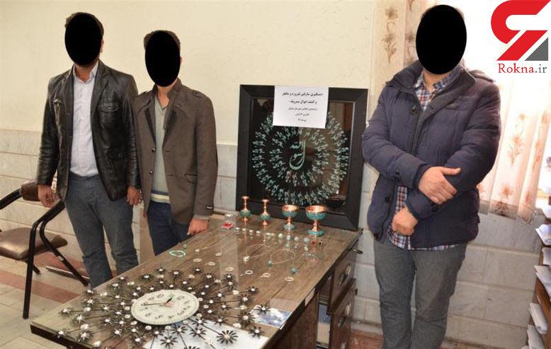 عملیات پلیسی برای دستگیری دزدان فیروزهها