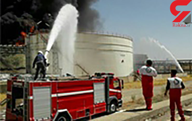 آتشسوزی گسترده در پتروشیمی بیستون