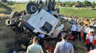 تصادف مرگبار در جاده بستان آباد / 2 تن در دم جان باختند