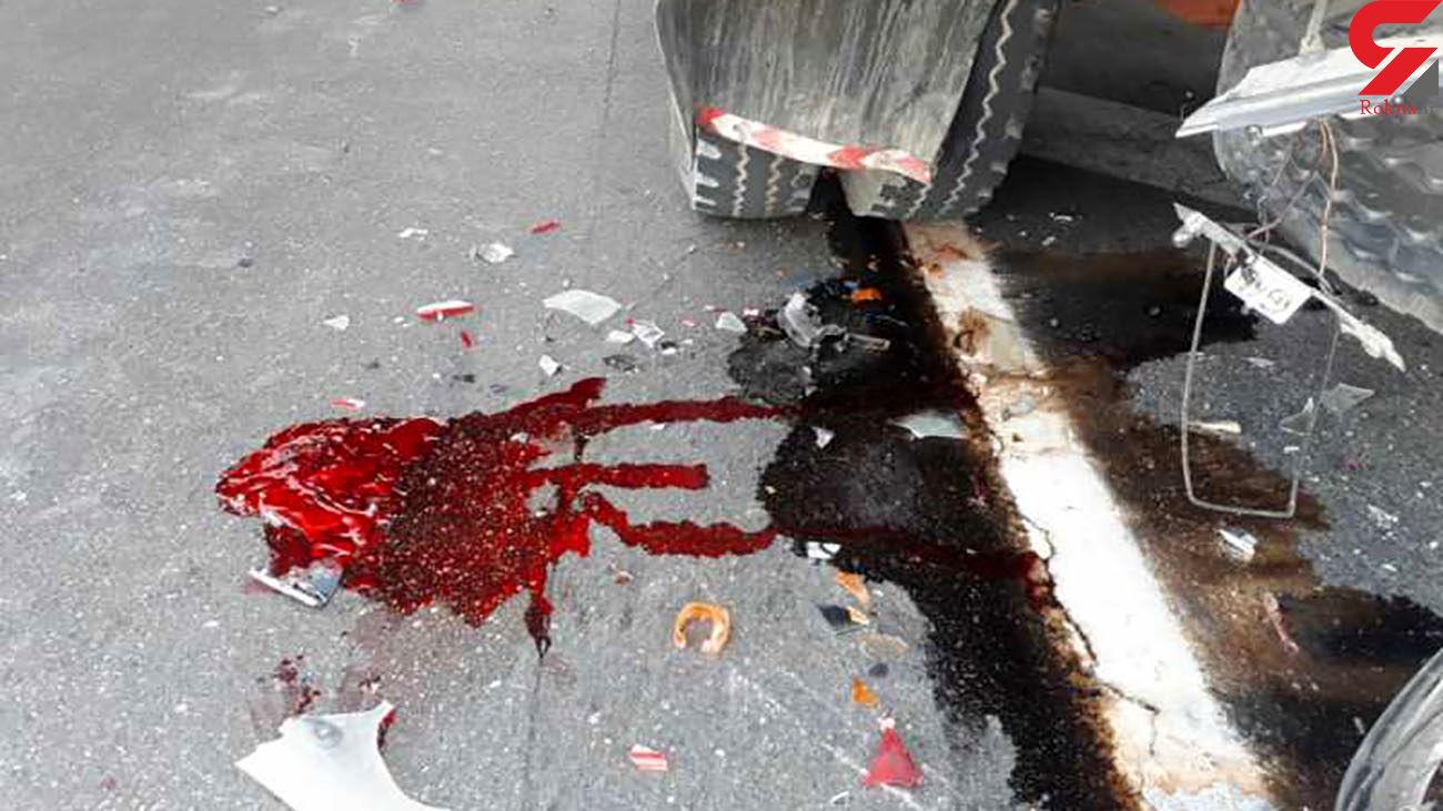 مرگ جوان تهرانی وسط خیابان / متهم گریخت + عکس
