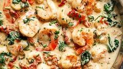 پیتزای میگو با طعم خامه و سیر