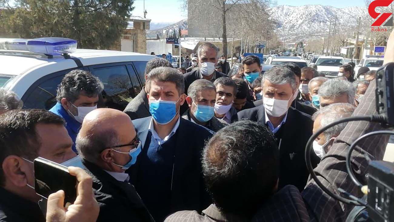 بازدید وزیر راه از مناطق زلزله زده سی سخت
