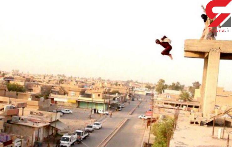 عکس وحشتناک پرتاب کردن جوان عراقی از بالای ساختمان توسط داعش+تصاویر