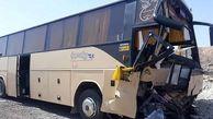 تصادف مرگبار اتوبوس مسافربری و تریلی / بامداد خونین در فردوس