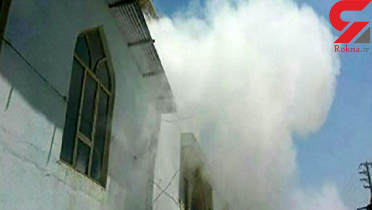 آتش سوزی در حوزه کنکور