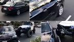 ببینید مرد عصبانی چه بر سر خودروی لوکس آورد +فیلم و عکس