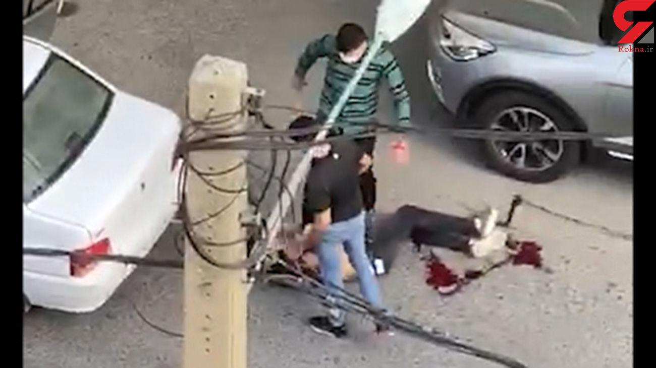 بریدن لب و صورت فرامرز توسط عاملان درگیری مسلحانه سعادت آباد ! /  او به قتل رسید