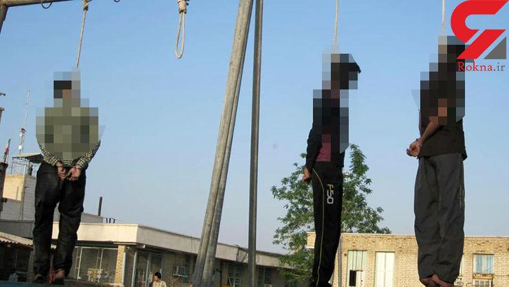 اولین عکس از اعدام 3 جوان پلید در بندر عباس / این زن توانست از چنگال آن ها فرار کند