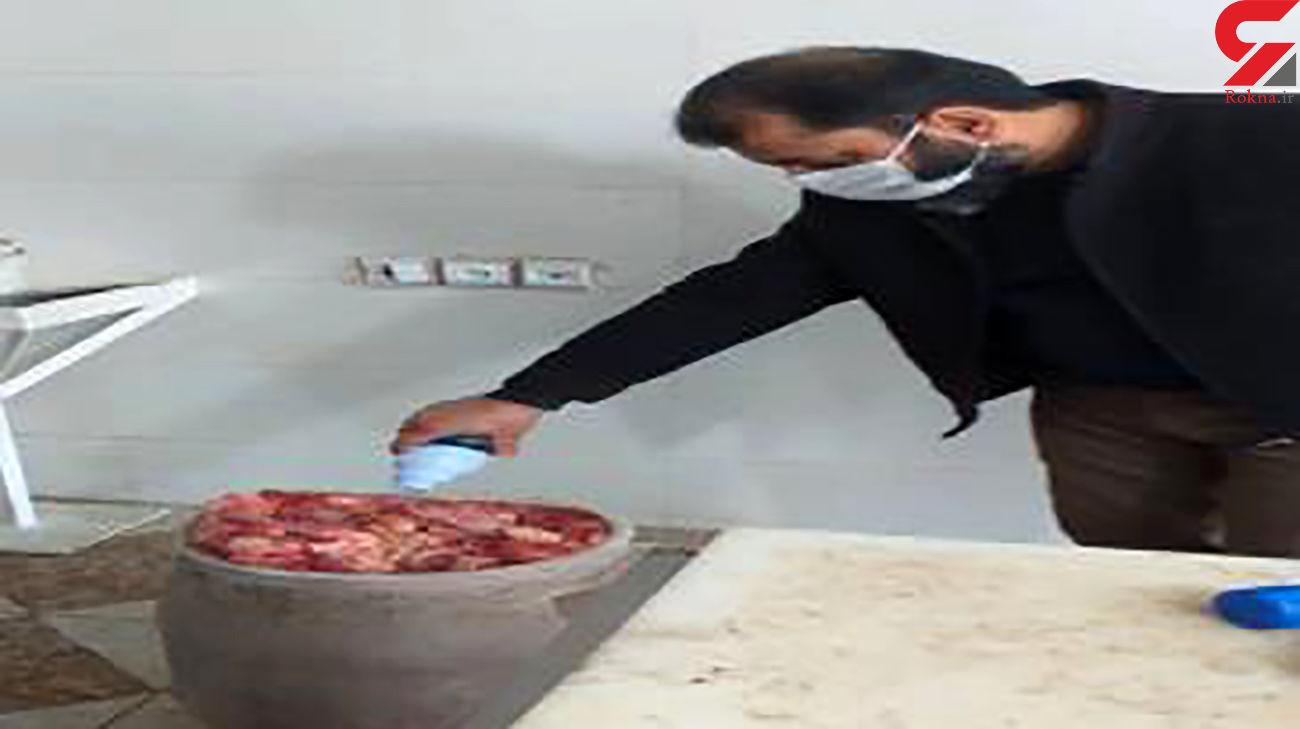 معدوم سازی 130 کیلوگرم گوشت گوساله و گوسفند فاسد در قرچک