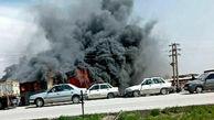 انبار لوازم خودرو سوخت /در جاده همدان - کرمانشاه رخ داد