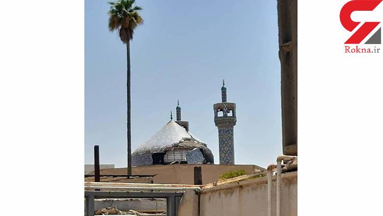 انتشار عکس آسیب شدید زلزله به گنبد مسجدجامع مسجدسلیمان