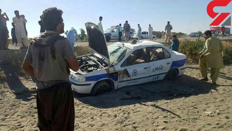 عکس حمله خونین مردان مسلح  به ماشین پلیس / درایرانشهر رخ داد + جزییات