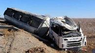 واژگونی کامیون با یک کشته  در فارس