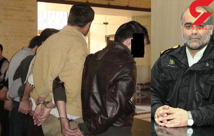 9 شرور شب چهارشنبه سوری رشت دستگیر شدند