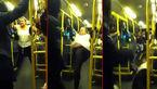 فیلم لحظه درگیری وحشیانه زن و مردی در اتوبوس+ تصاویر