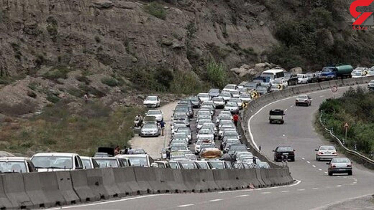 جاده شمال ترافیک شد / بی توجهی مردم به ممنوعیت تردد