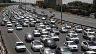 ترافیک پرحجم و روان در آزادراه کرج – تهران