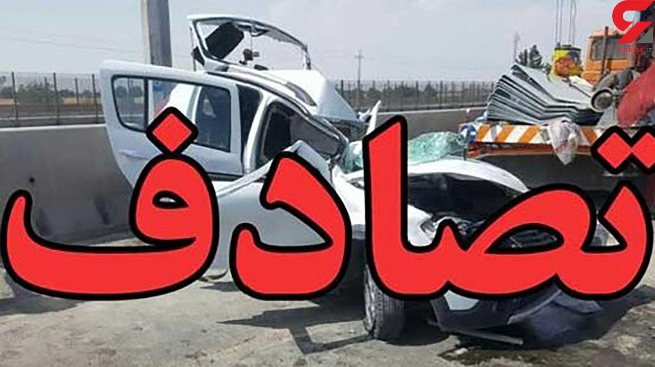 تصادف زنجیره ای در زنجان / 12 نفر زخمی شدند