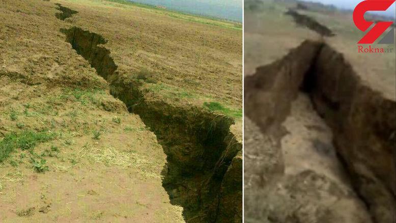 شکاف عظیم در بیابانهای فریمان بر اثر زلزله ۶.۱ ریشتری مشهد+ فیلم و عکس