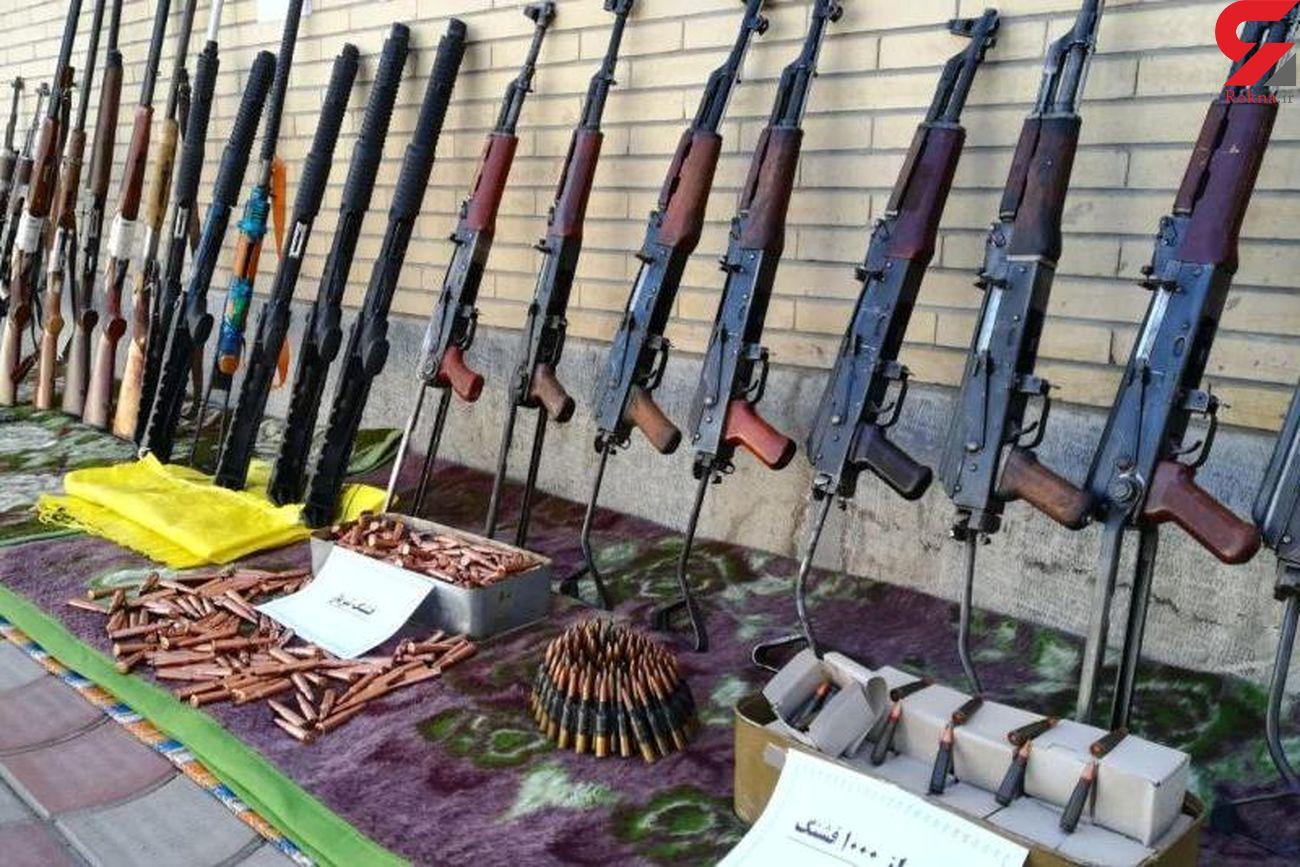 انهدام باند قاچاق سلاح درعملیات مشترک پلیسی