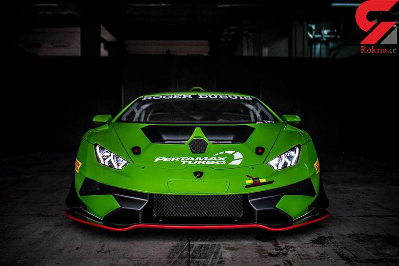 لامبورگینی از جدیدترین خودروی مسابقهای خود پردهبرداری کرد