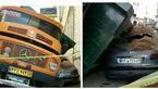 پرس شدن پژو زیر کامیون چند تنی در قصردشت + عکس