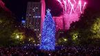 مراسم باشکوه و دیدنی نورپردازی درخت عظیم کریسمس در شیکاگو