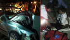 یک کشته و ۳ مصدوم بر اثر برخورد سمند با نیوجرسی +عکس