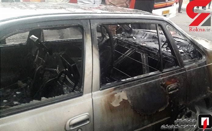 آتش گرفتن دوو سیلو در تهران به دلایل نامعلوم + عکس