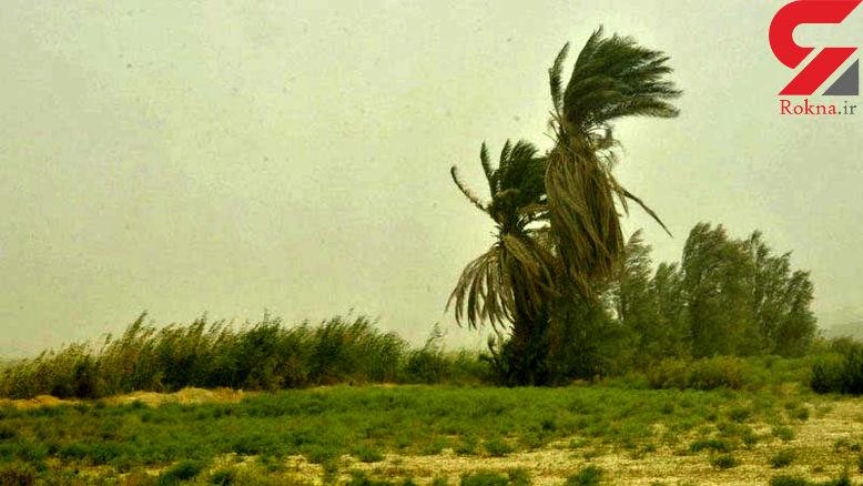 سرعت باد در زابل به 104 کیلومتر بر ساعت رسید
