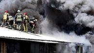 آتش سوزی وحشتناک در قلب تهران ! / بازاری ها وحشت کردند + عکس