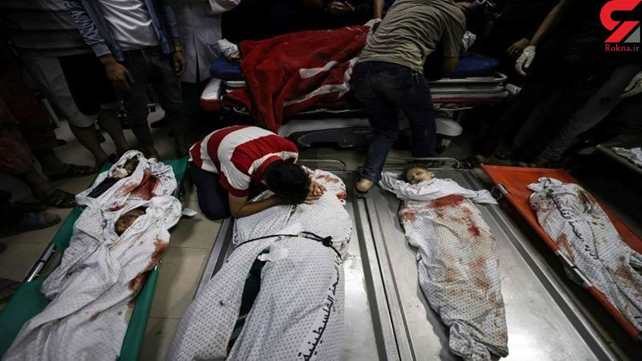 عکس جنازه های این کودکان جهان را تکان داد / مرگ همزمان 8 کودک در غزه