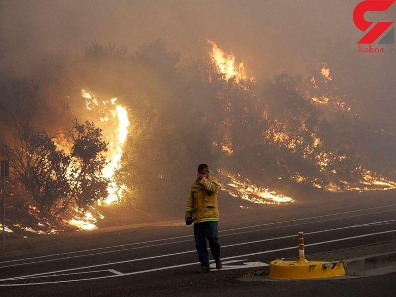 17 کشته در آتشسوزی  ایالت کالیفرنیا + عکس