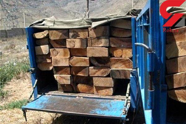 ۱۴ تن چوب قاچاق کشف شد