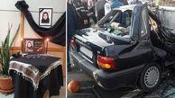 له شدن شهرزاد در تصادف با کامیون در تهران +عکس