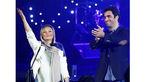 نمایی دیدنی از حضور بازیگر معروف زن  و همسر مشهورش در کنسرت فرزاد فرزین +عکس