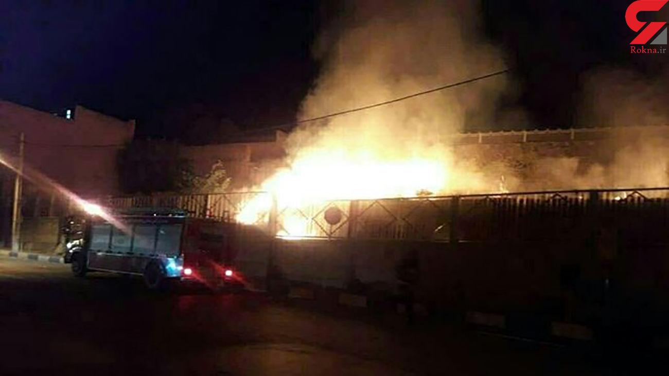 جزئیات آتش سوزی در محوطه کلیسای مریم مقدس همدان +فیلم
