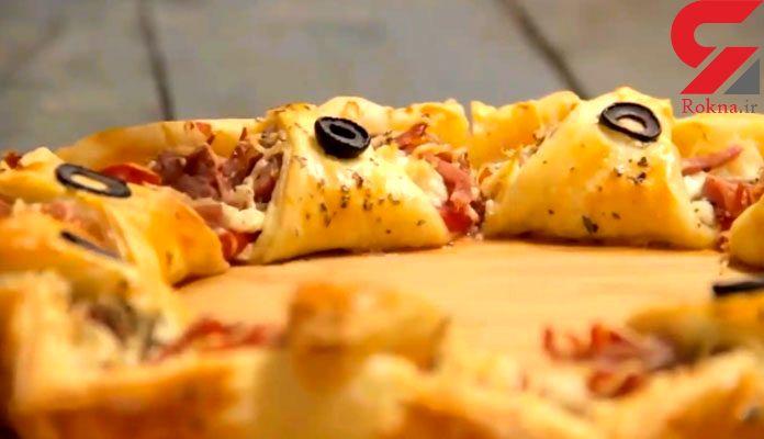 پیتزا رولی با عطر پونه کوهی