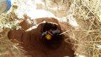 نجات معجزه آسای پیرمرد آبیکی از چاه قنات کشاورزی + عکس
