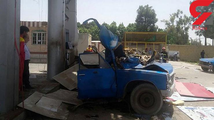 مصدومیت 4 نفر بر اثر انفجار مخزن بنزین در «فاروج»