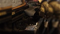 حادثه ای خونین برای زن جوان در سعادت آباد+ تصاویر