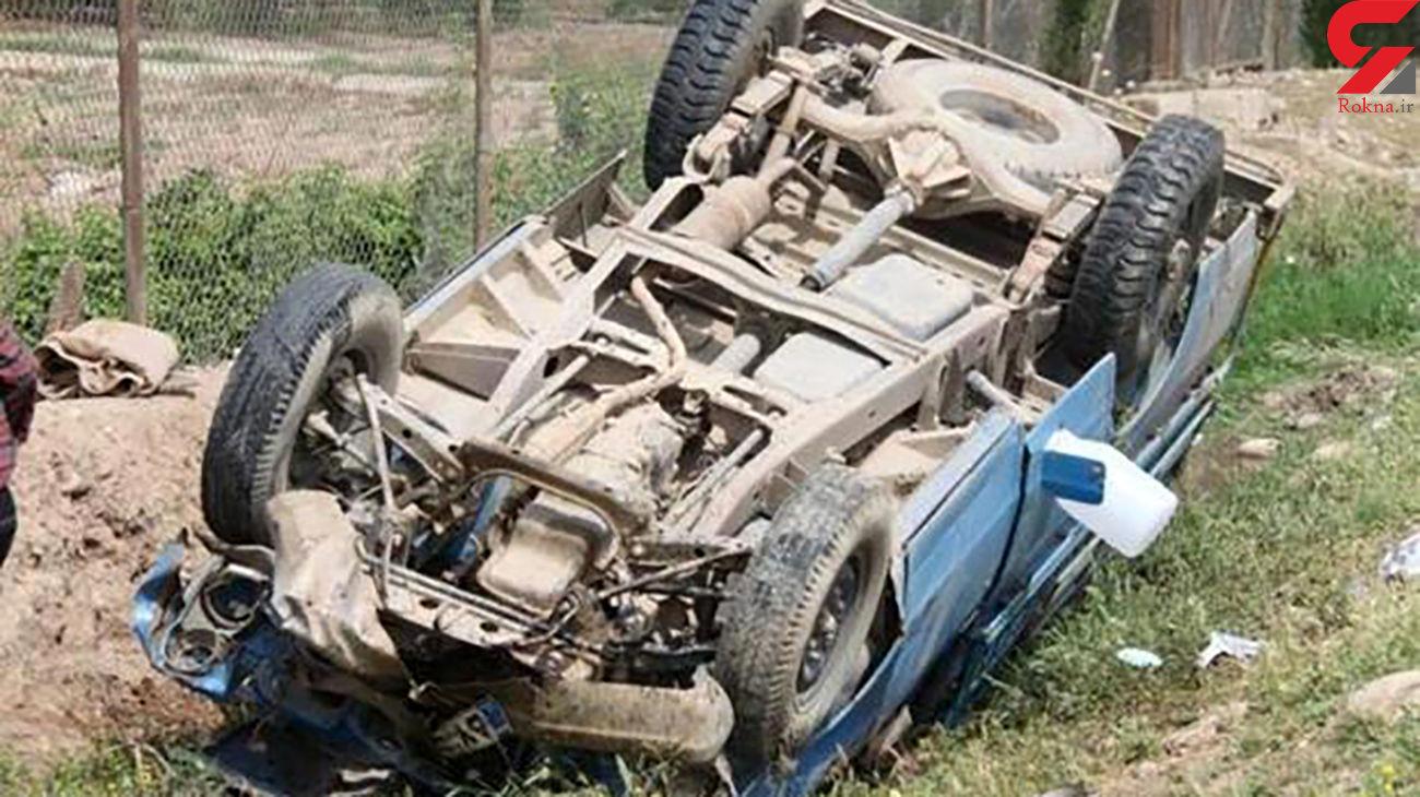سقوط مرگبار نیسان به دره با 2 فوتی / در شهرکرد به اهواز رخ داد