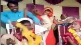 ساقدوش شوخ از داماد عصبانی در مراسم عروسی کتک خورد !+ فیلم
